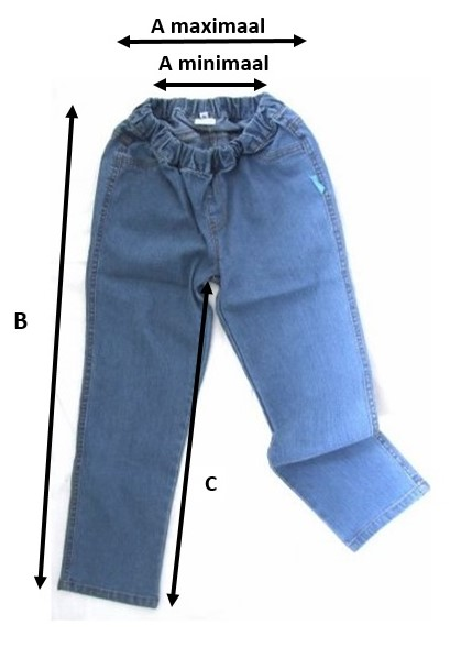 Aangepaste basic broek
