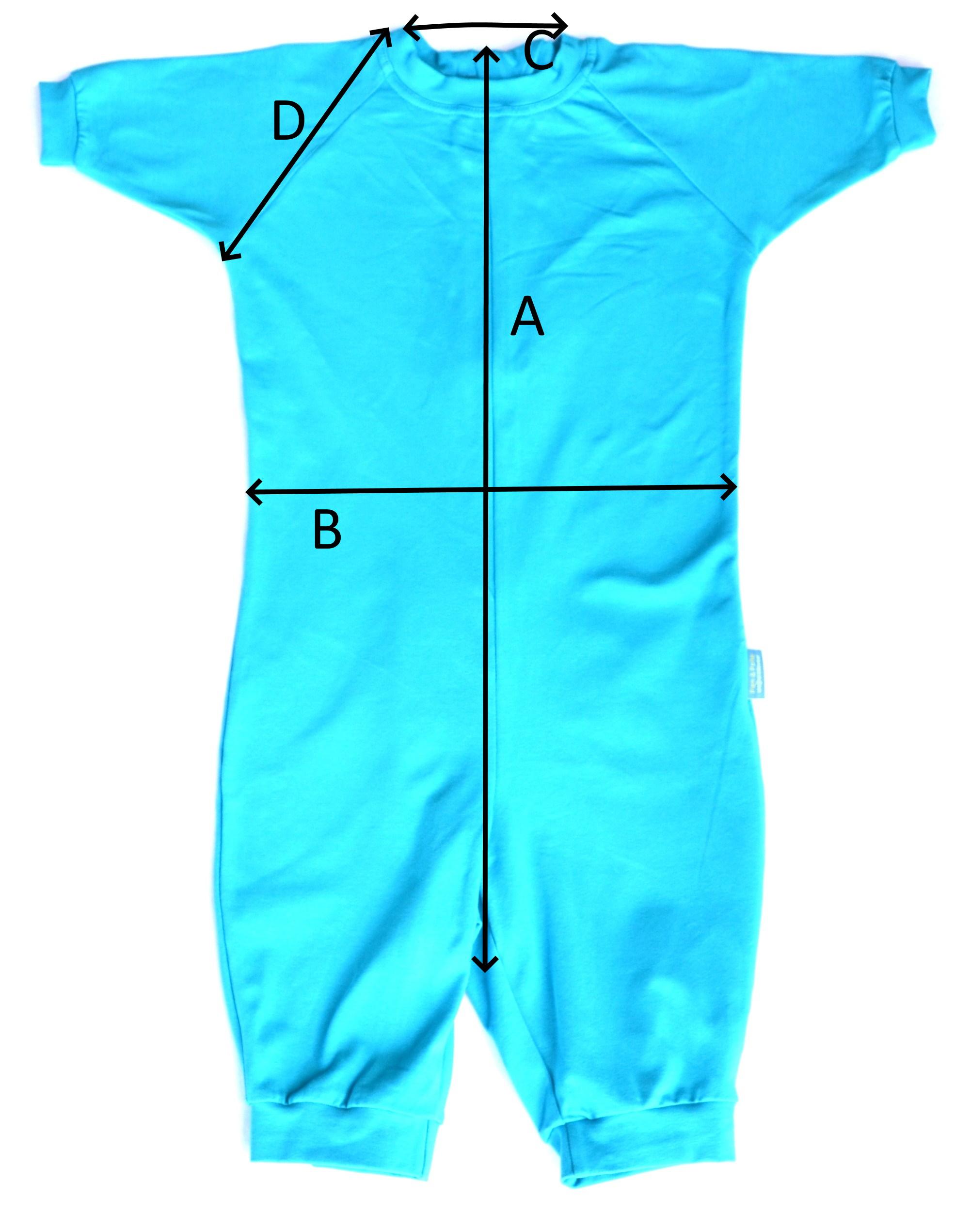zomer pyjama met rits op de rug